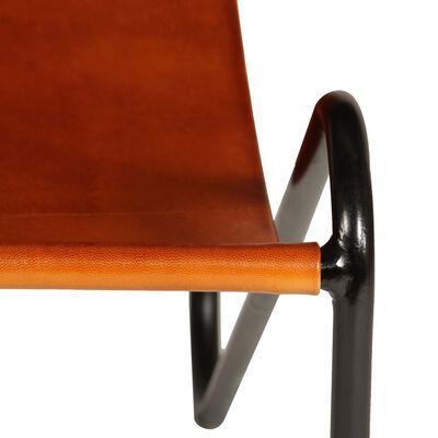 vidaXL Silla de cuero auténtico marrón