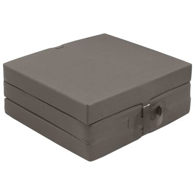 vidaXL Colchón de espuma plegable en 3 partes 190x70x9 cm gris