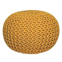 LABEL51 Puf de punto de algodón M amarillo
