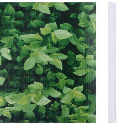 vidaXL Paneles de privacidad 4 uds PVC verde 35x0,19 m