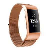 Fitbit Charge 3/4 pulsera lazo milanesa - oro rosa - pequeño
