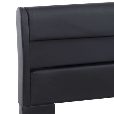 vidaXL Estructura de cama con LED de cuero sintético negro 140x200 cm