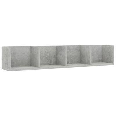 vidaXL Estante de pared para CD aglomerado gris hormigón 100x18x18 cm