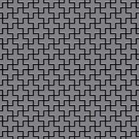 ALLOY Swiss Cross-S-S-MA Mosaico de metal sólido Acero inoxidable gri