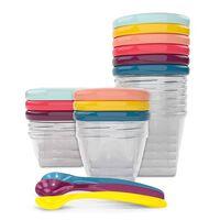 Babymoov Recipientes apilables para comida bebé Babybols Multi Set XXL
