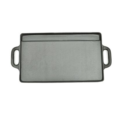 vidaXL Sartén parrilla de hierro fundido reversible 38x23 cm