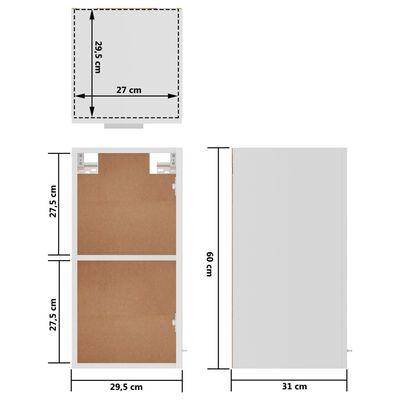vidaXL Armario colgante de cocina aglomerado blanco 29,5x31x60 cm