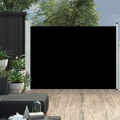 vidaXL Toldo lateral retráctil de jardín negro 100x500 cm