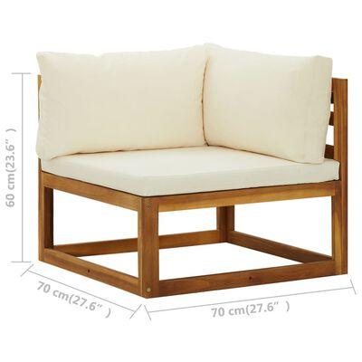 vidaXL Sofás de esquina modulares 2 uds con cojines tela blanco crema