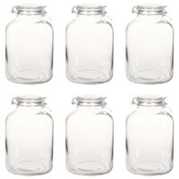 vidaXL Tarros de mermelada de vidrio con cierre hermético 6 uds 5 L