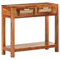 vidaXL Mesa consola de madera maciza reciclada 86x30x76 cm