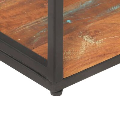 vidaXL Estantería de madera maciza reciclada 80x30x180 cm