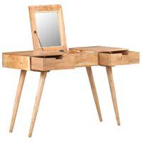 vidaXL Tocador con espejo de madera maciza de acacia 112x45x76 cm