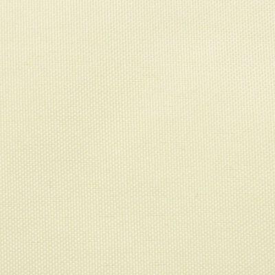 vidaXL Toldo de vela cuadrado de tela oxford color crema 4x4 m