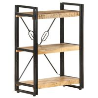 vidaXL Estantería de 3 niveles de madera maciza de mango 60x30x80 cm