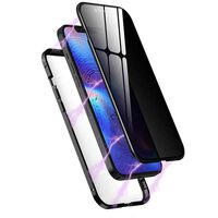Funda magnética con protección de privacidad para iPhone 12 Mini Negra
