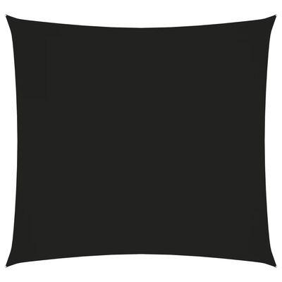 vidaXL Toldo de vela cuadrado de tela oxford negro 7x7 m