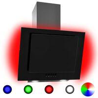 vidaXL Campana extractora RGB de LED acero inox. vidrio templado 60cm