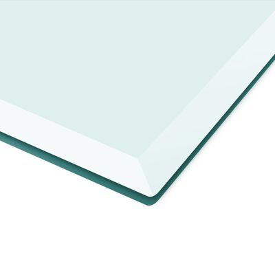 vidaXL Tablero de mesa de cristal templado cuadrado 800x800 mm