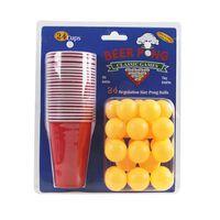 Juego de Beer pong, 24 tazas y pelotas
