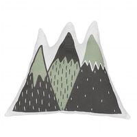 Cojín decorativo montañas verde/negro 60x50 cm INDORE