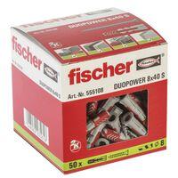 Taco Duopower Con Tornillo Caja 50 8X40 - FISCHER - 555108