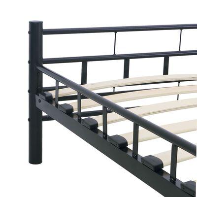 vidaXL Estructura de cama de acero negra 180x200 cm