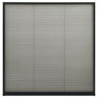 vidaXL Mosquitera plisada para ventanas aluminio antracita 120x120cm