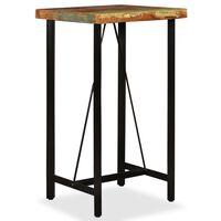 vidaXL Mesa de bar de madera maciza reciclada 60x60x107 cm