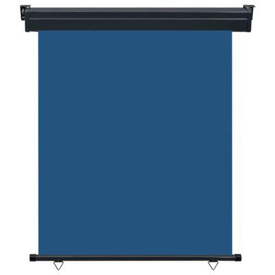 vidaXL Toldo lateral de balcón azul 140x250 cm