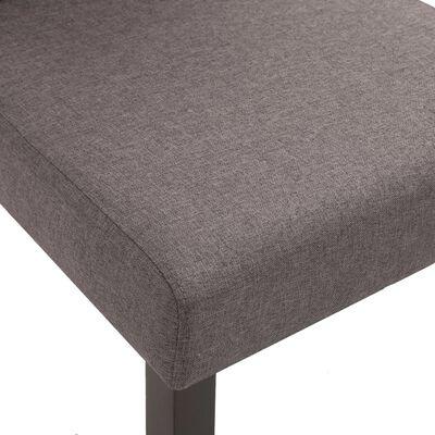 vidaXL Sillas de comedor 4 unidades de tela gris taupe