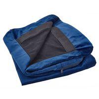 Funda de sofá 2 plazas de terciopelo azul BERNES