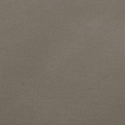 vidaXL Toldo de vela triangular tela oxford gris taupe 2,5x2,5x3,5 m