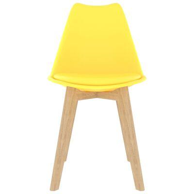 vidaXL Sillas de comedor 2 unidades plástico amarillo
