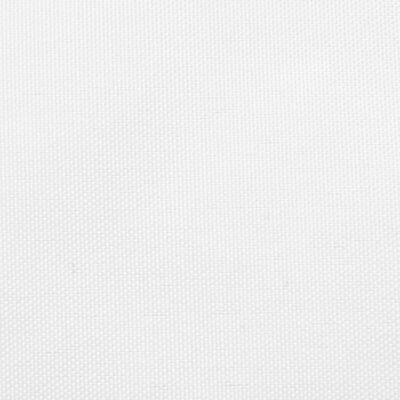 vidaXL Toldo de vela trapezoidal de tela oxford blanco 4/5x4 m