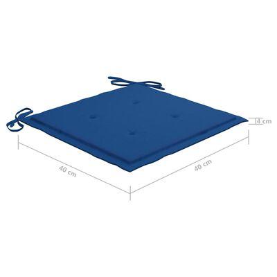 vidaXL Cojines para silla de jardín 4 uds tela azul royal 40x40x4 cm