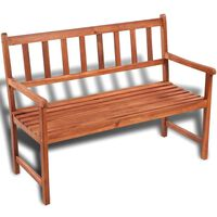vidaXL Banco de jardín 120 cm madera de acacia maciza