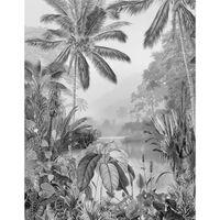 Komar Mural fotográfico Lac Tropical Black & White 200x270 cm