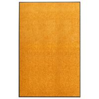 vidaXL Felpudo lavable naranja 120x180 cm