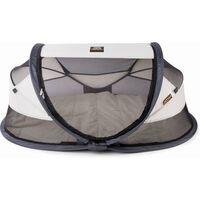 DERYAN Cuna de viaje desplegable Baby Luxe con mosquitera crema