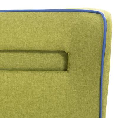 vidaXL Cama con LED y colchón tela verde 120x200 cm