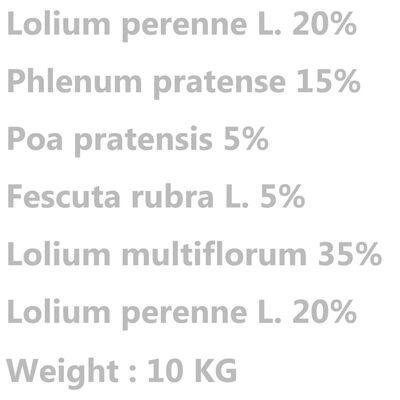 vidaXL Semillas de césped para campo y pasto 10 kg
