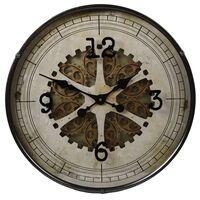Gifts Amsterdam Reloj de pared Radar redondo gris antiguo 60 cm