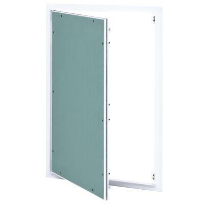 vidaXL Panel de acceso estructura aluminio y placa de yeso 400x600 mm