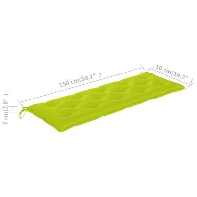 vidaXL Cojín para columpio balancín tela verde intenso 150 cm