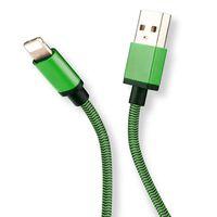 Cable de carga trenzado para iPhone 0,9 m - Verde