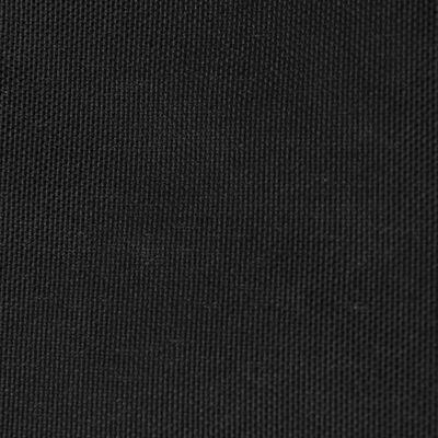 vidaXL Toldo de vela rectangular de tela oxford negro 2x3 m