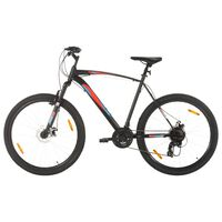 vidaXL Bicicleta montaña 21 velocidades 29 pulgadas rueda 53 cm negro