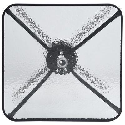 vidaXL Mesa de jardín de acero negro 70x70x70 cm