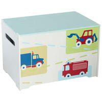 Worlds Apart Caja para juguetes camiones y tractores blanca WORL230009